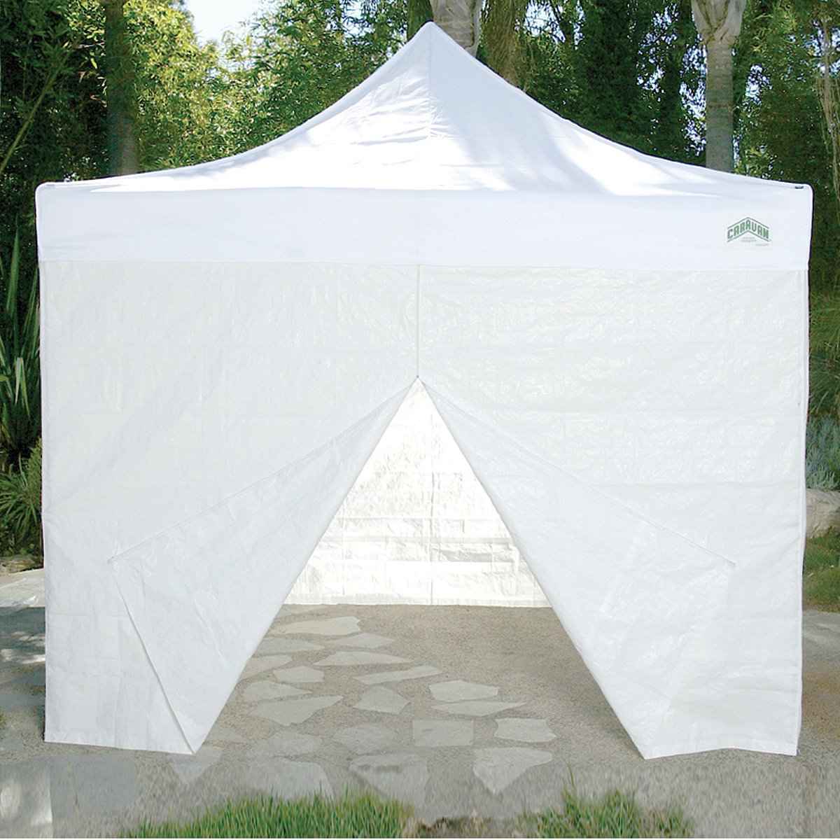 Amazon.com  Caravan Canopy 10-Feet Canopy Sidewall Kit for Caravan Display Shade and Aluma Shade Models White  Outdoor Canopies  Garden u0026 Outdoor : canopy 10x10 with sidewalls - memphite.com