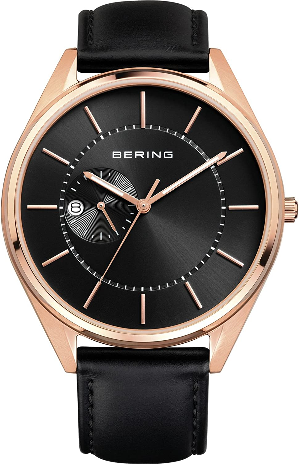 Bering Men s Analogue Automatic Watch with Leather Strap 16243-564