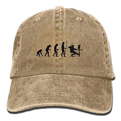 ONGH Programador de computadoras Denim Hat Ajustable Mens Flag ...