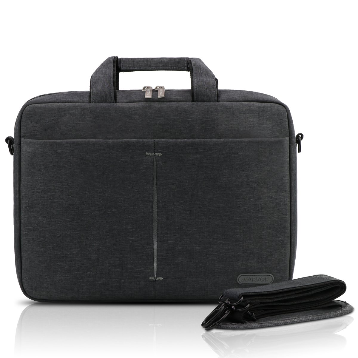 ARVOK Sacoche Ordinateur Portable 15-15.6 Pouces Sacs et Housses en Oxford avec Bandouliere et Poignée pour Tablette PC, Chromebook, Macbook Pro/Air, Ultrabook (Noir) 22NBS-FA156HS-7BA