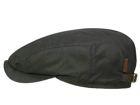 32c07bde6d6 Wigens Ivy Contemporary Flatcap mit Ohrenklappen aus gewachster Baumwolle   Amazon.de  Bekleidung