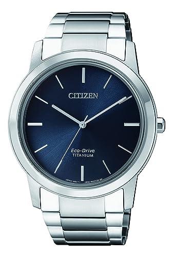 Citizen Reloj Cronógrafo para Hombre de Energía Solar con Correa en Titanio AW2020-82L: Amazon.es: Relojes