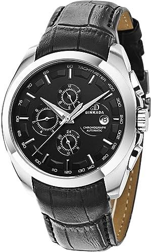La mejor relación calidad-precio BINKADA automático con esfera negra y reloj de pulsera de los hombres #7033n02 -2: Amazon.es: Relojes