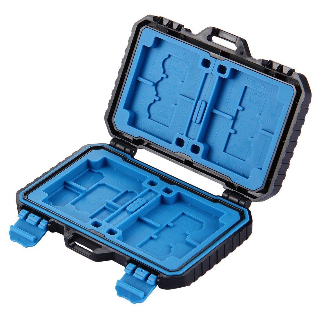 2/* CF 2/+ 3/* * TF SD 9/slot per schede Mini portatile resistente Wateroroof schede di memoria Holder Stocker Carrying Shell Storage box di protezione capacit/à: 2/* Xqd Calesi SD CF TF scheda di memoria Xqd custodia
