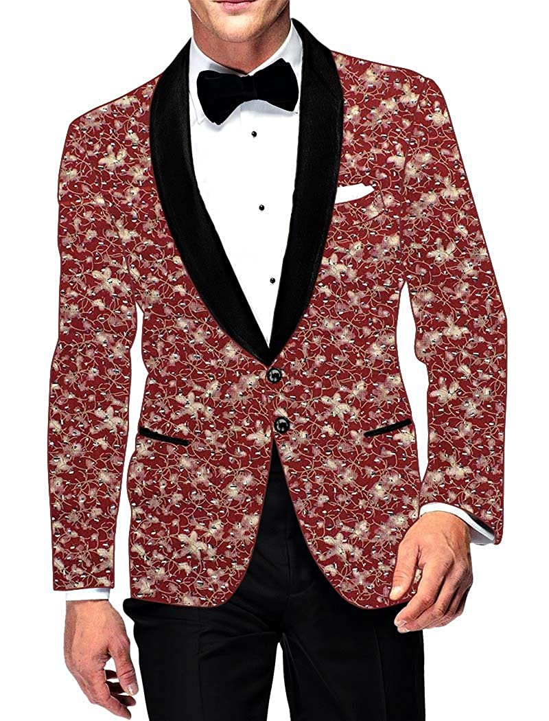 INMONARCH Mens Slim fit Casual Burgundy Cotton Blazer Sport Jacket Coat Bollywood Style SB15983
