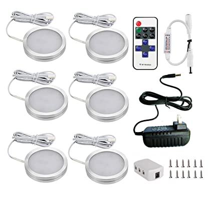 Amazon.com: Xking 6 Puck Lights LED Wireless Kitchen Under Cabinet ...