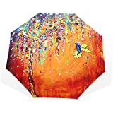 BAIHUISHOP Windproof Strong Frame Unbreakable Hummingbird Pattern Golf Umbrella , Compact for Travel By Easy Carrying Sports Rain Umbrella