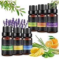 Aceites Esenciales, 6x10ml Aceites Esenciales Aromaterapia para Humidificador,100%