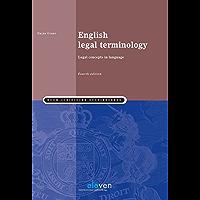 English legal terminology (Boom Juridische studieboeken) (English Edition)