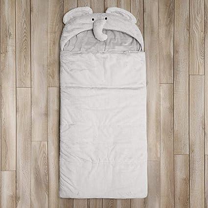 low priced b7090 2fdd8 Amazon.com: DE Kids Grey Plush Elephant Themed Sleeping Bag ...