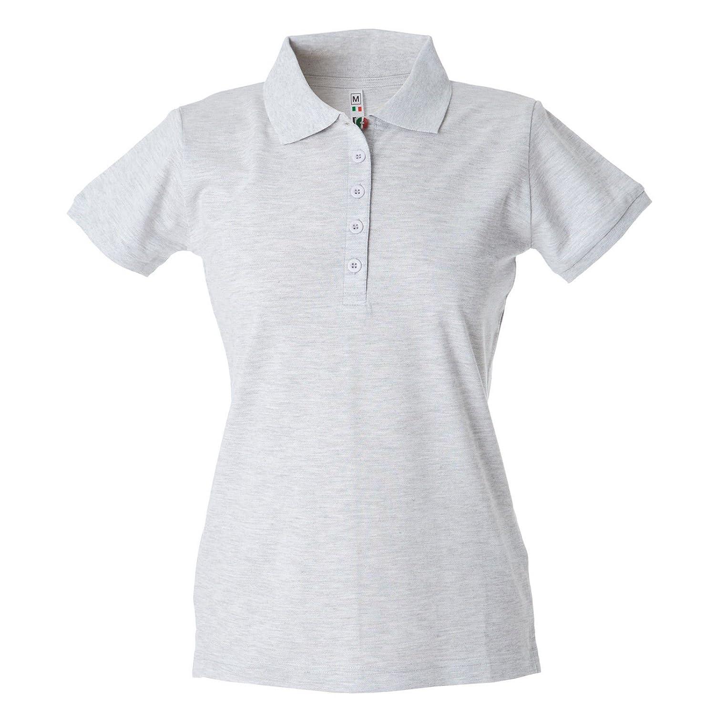 Polo Donna Manica Corta Cotone Piquet Maglia T-Shirt con Colletto JRC Colombia CHEMAGLIETTE