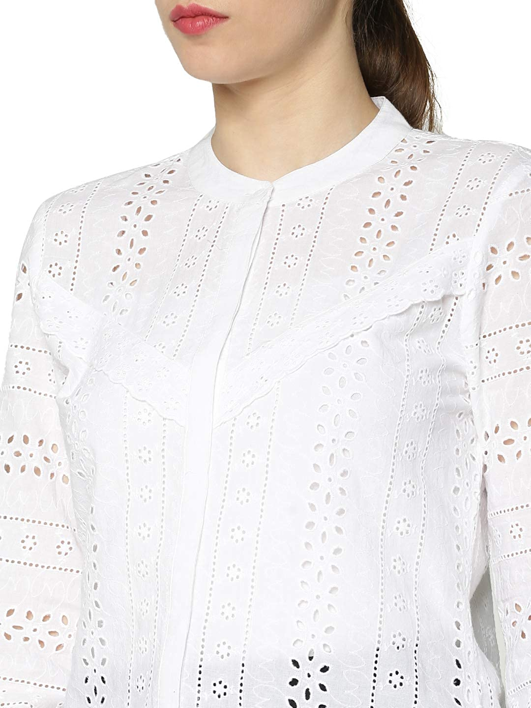 Only Onlmiriam LS EMB Anglaise Blouse Noos Camicia da Donna