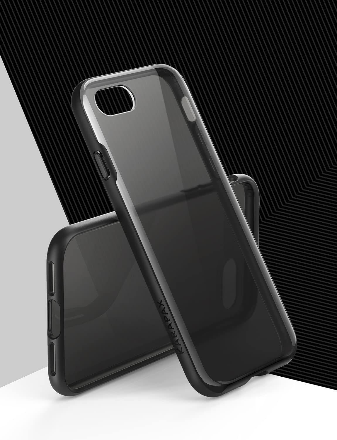 Slim Fit // iPhone 7 iPhone 7 Case for Apple 4.7 in iPhone 8 Semi-Transparent Hard Back and Soft Bumper Anker iPhone 8 Case - Black Support Wireless Charging KARAPAX Ice Case 2017 2016