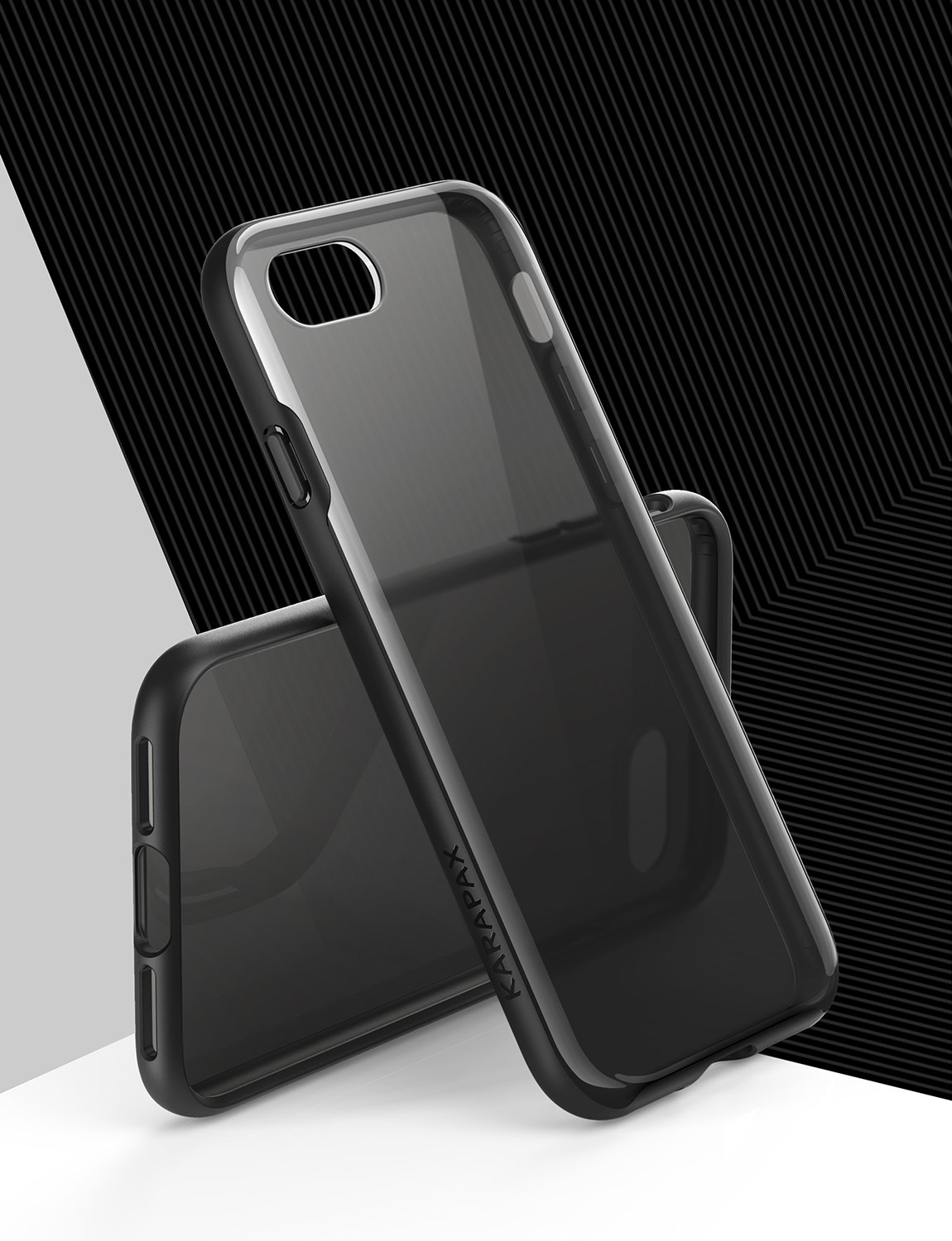 - Black Semi-Transparent Hard Back and Soft Bumper for Apple 4.7 in iPhone 8 iPhone 7 Case Slim Fit 2016 Anker iPhone 8 Case // iPhone 7 KARAPAX Ice Case 2017 Support Wireless Charging