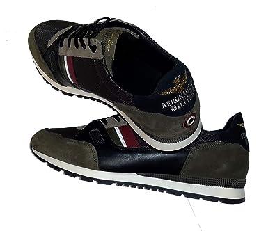 Herren Schwarz Aeronautica Sneakers Militare Sc147ct Schuhe OXikZTPu