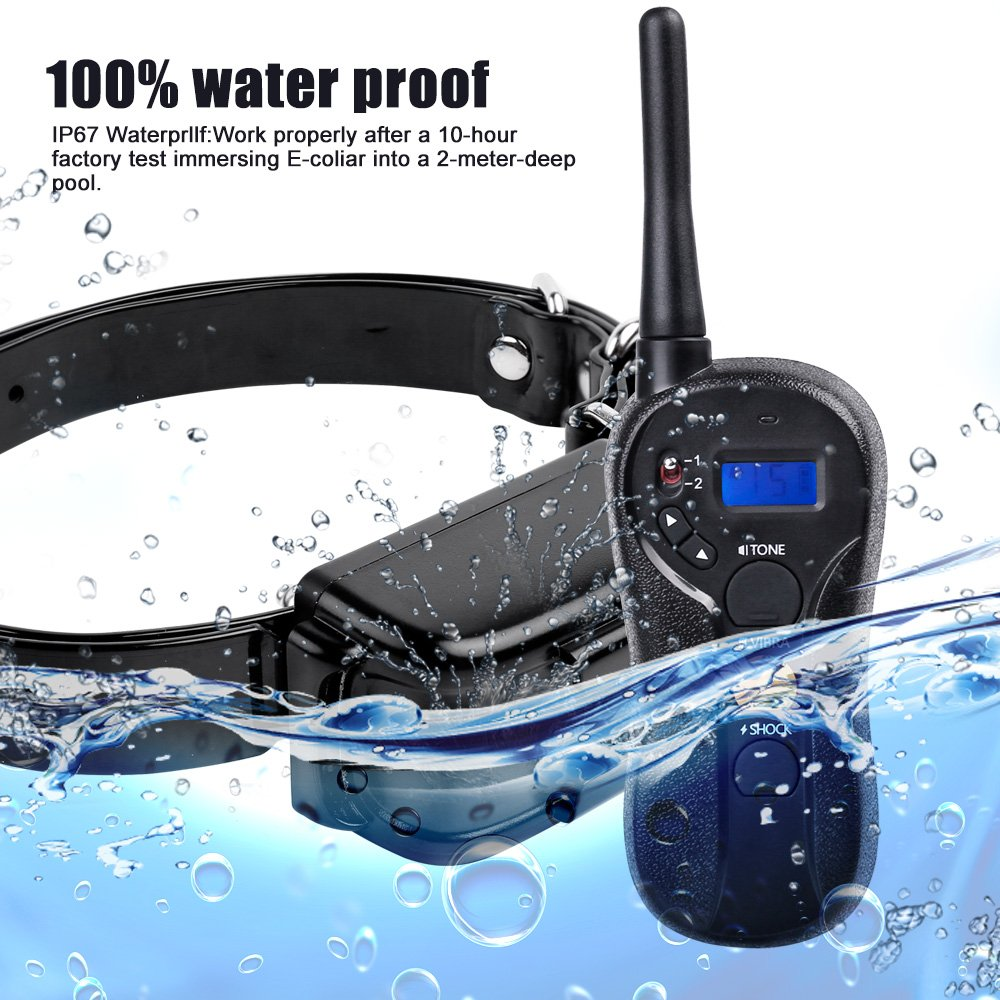 Dog Shock Collar Waterproof Remote Dog Training Collar 660YD Rechargeable with Beep, Vibration and Shock 3 Modes