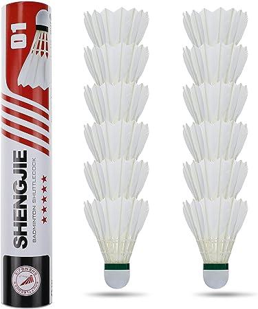 12pcs Federbälle Badmintonball Federball Badmintonbälle Mehrfarbig Badminton DHL