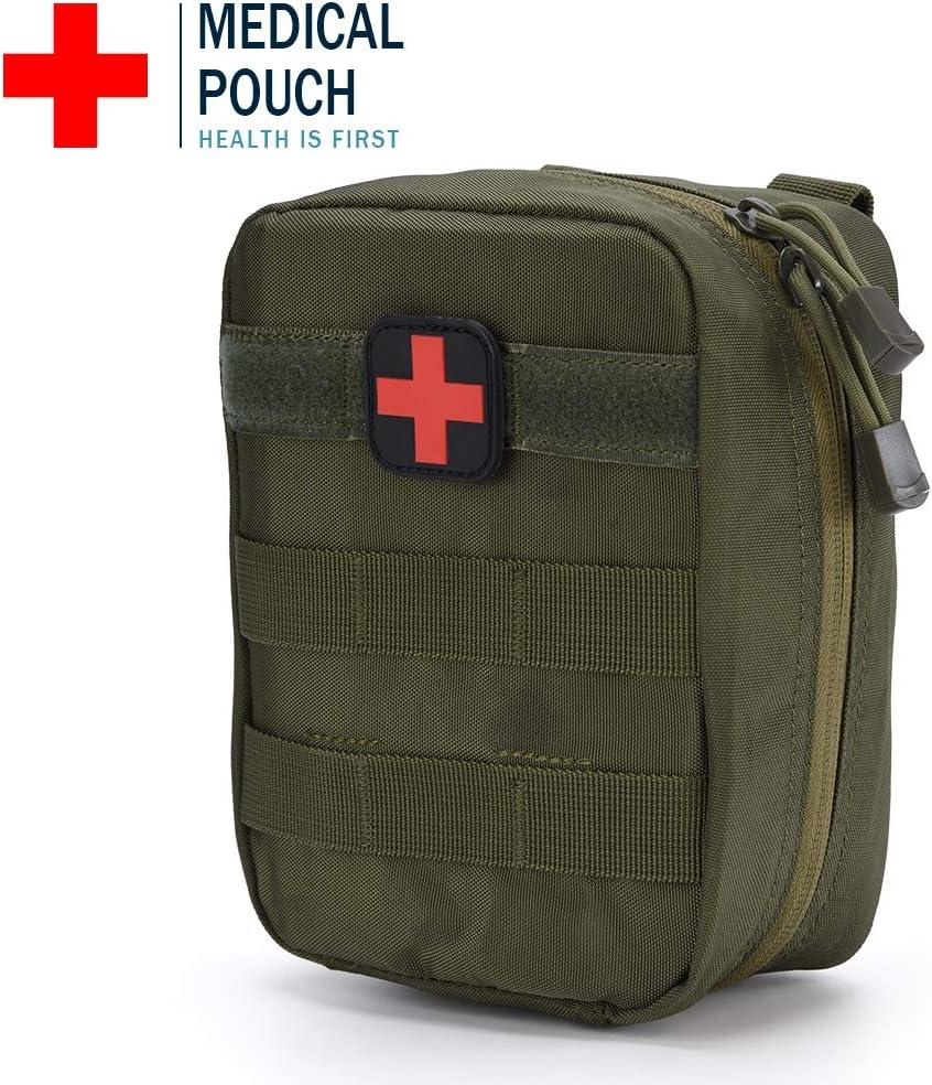 maison sac de trousse de premiers soins vide pour voiture camping voyage sport randonn/ée ou bureau trousse de survie durgence pour les poches EMT de Molle Poche tactique de premiers soins