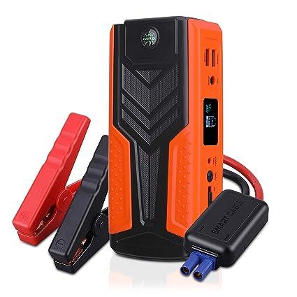AWANFI Arrancador de Coche Jump Starter Batería 1200A 12V 18000mAh ...
