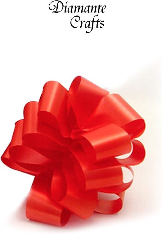 Lazo automático de 10 x 50 mm. Grande. Decoración para coche de boda, envolver regalos, floristería. 26 colores: Amazon.es: Hogar