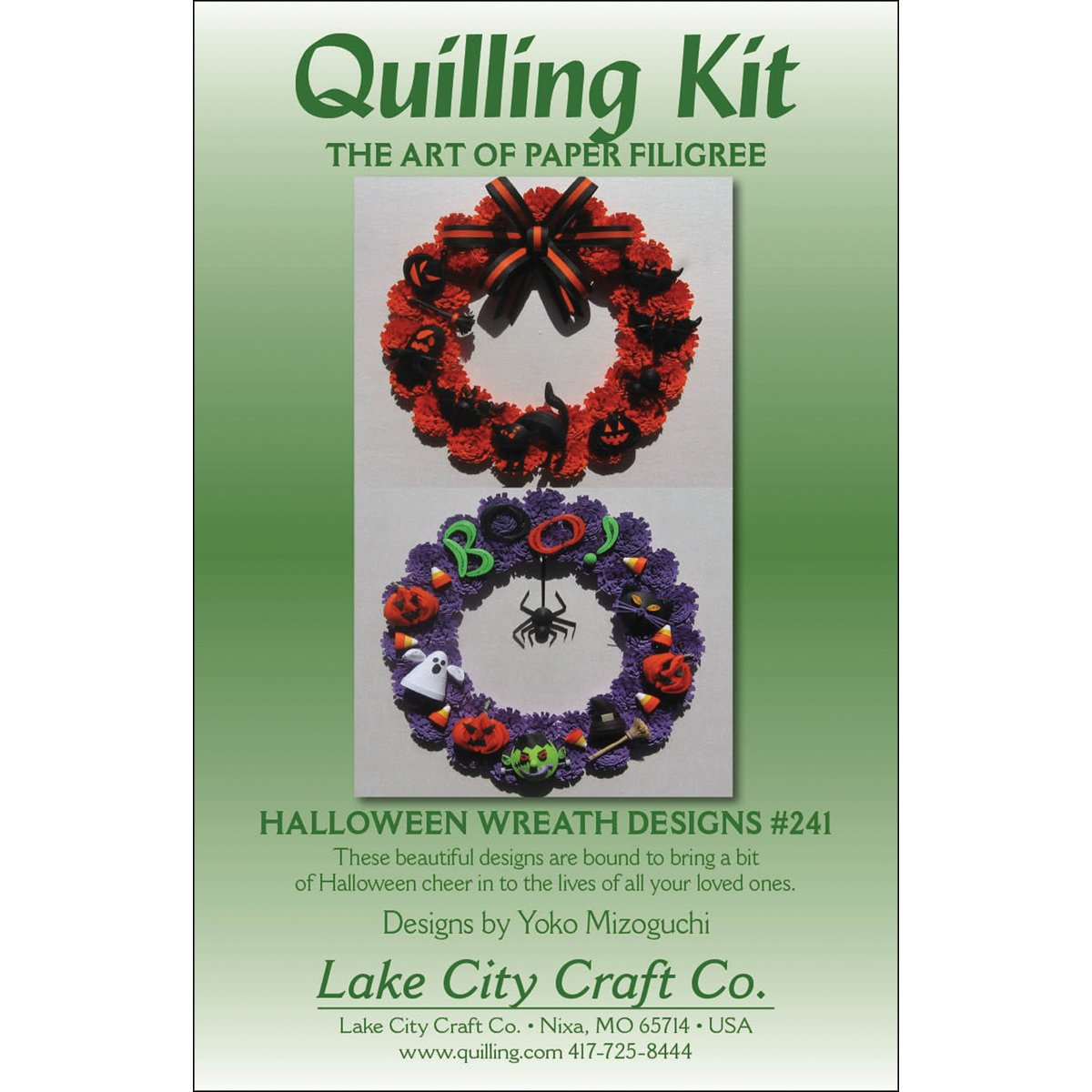 LAKE CITY CRAFT Quilling Kit, Halloween Wreaths Q241
