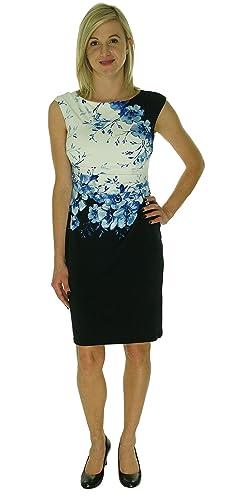 Lauren Ralph Lauren Womens Floral Print Pleated Wear to Work Dress