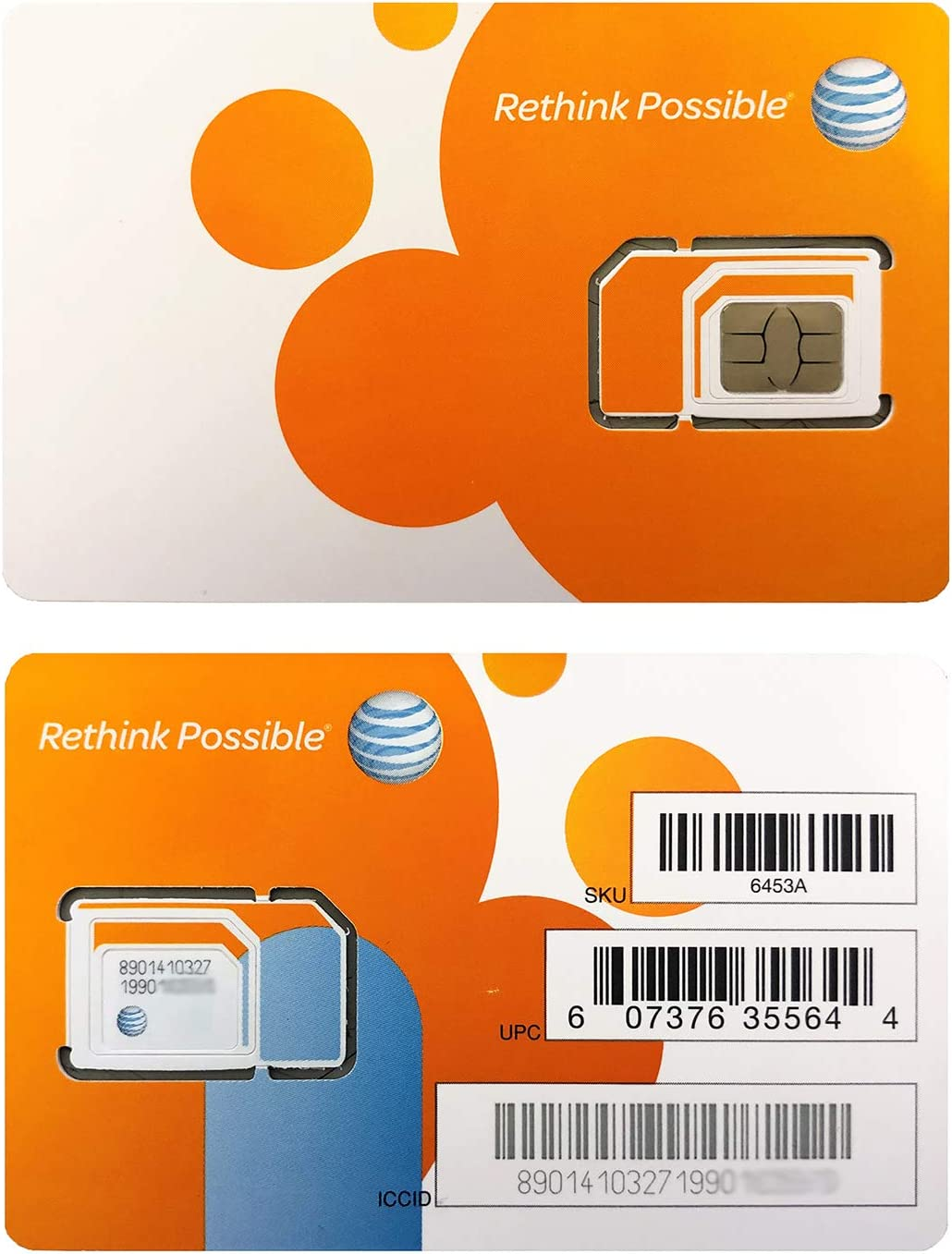 Amazon.com: AT&T ATT - Juego de 2 tarjetas SIM de 4 G/3 G/2 ...