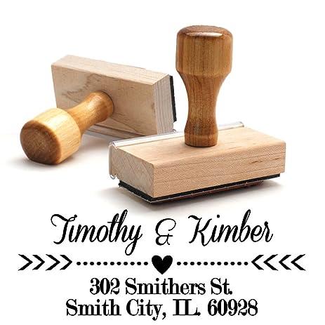 amazon com wood stamper custom wooden handle return address stamp