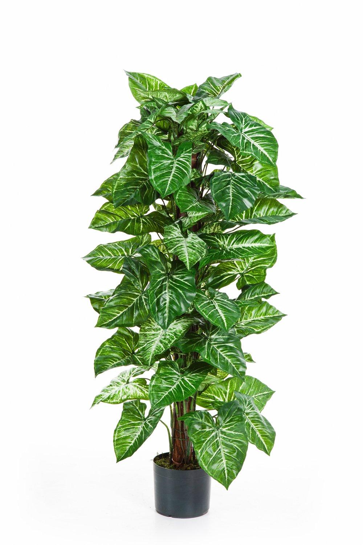 Artplants Künstliche Purpurtute Purpurtute Purpurtute PELLIKITA mit 110 grün-weißen Pfeilformblättern, 120 cm - Kletterpflanze Kunstpflanze 4ce98d