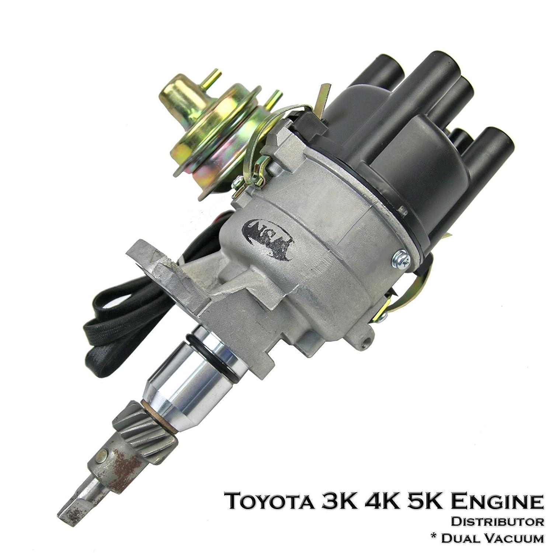 Amazon.com: Ignition Distributor For Toyota 3K 4K 5K Corolla KE20 KE30 KE40  KE50 KE60 KE70: Automotive