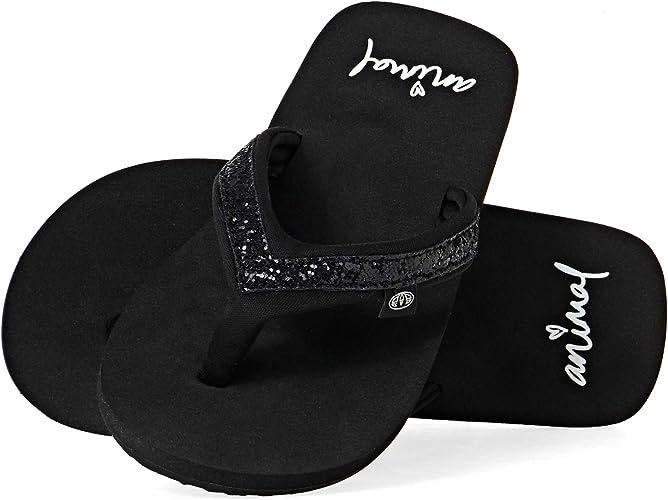 Girls Flip Flop Animal Swish Logo
