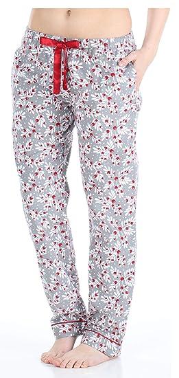 nouveau concept 83cda 1b5f3 PajamaMania Pantalon de Pyjama Vêtement de Nuit en Flanelle pour Femmes