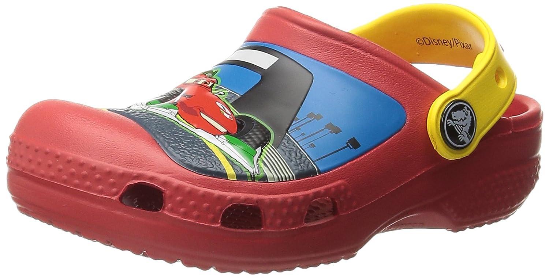Toddler//Little Kid Crocs Boys McQueen /& Francesco Clog K Flame//Yellow 4//5 M US Toddler CC McQueen /& Francesco Clog
