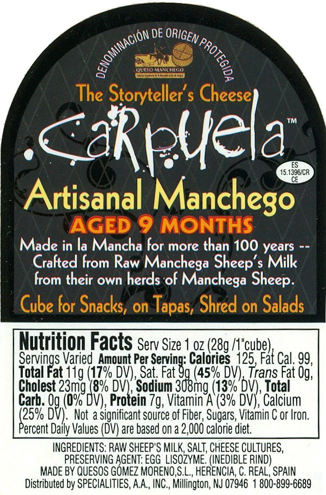 Manchego 8 months old (1 pound) by Gourmet-Food