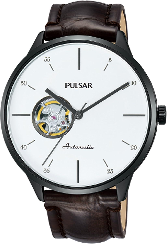 Pulsar Business Reloj para Hombre Analógico de Automático con Brazalete de Piel de Vaca PU7025X1