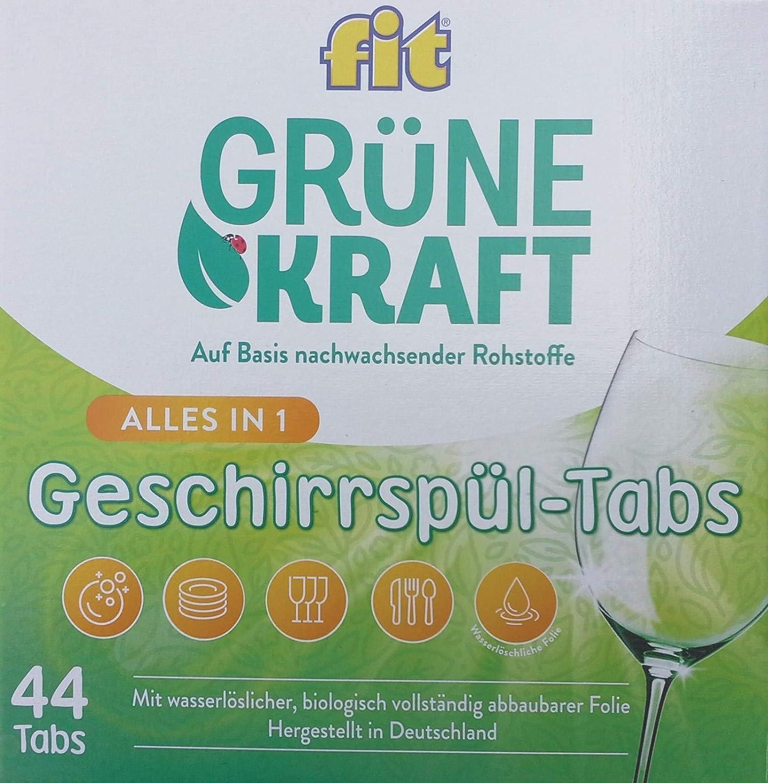 FIT - verdes Fuerza todo en 1 Pastillas lavavajillas - 44st ...