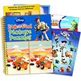 Disney Pixar Look and Find Puzzle Book Set Kids Toddlers -- Jumbo Book with Toy Story Stickers