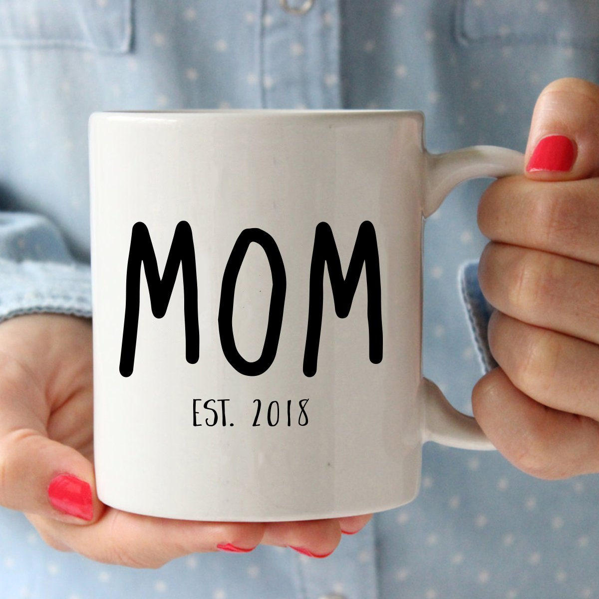 New Parents Pregnancy 2018 Announcement Coffee Mug Set 11oz - Unique Christmas Gift For Parents To Be - Perfect Present For Baby Showers - Mom and Dad Gift by Gelid (Image #2)