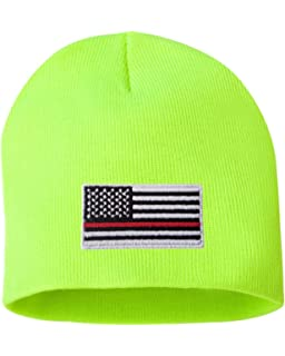 33f9ee226bcc5f Thin Red Line Flag Axe Unisex Toboggan Knit Hat Warm Hat Skull Cap ...