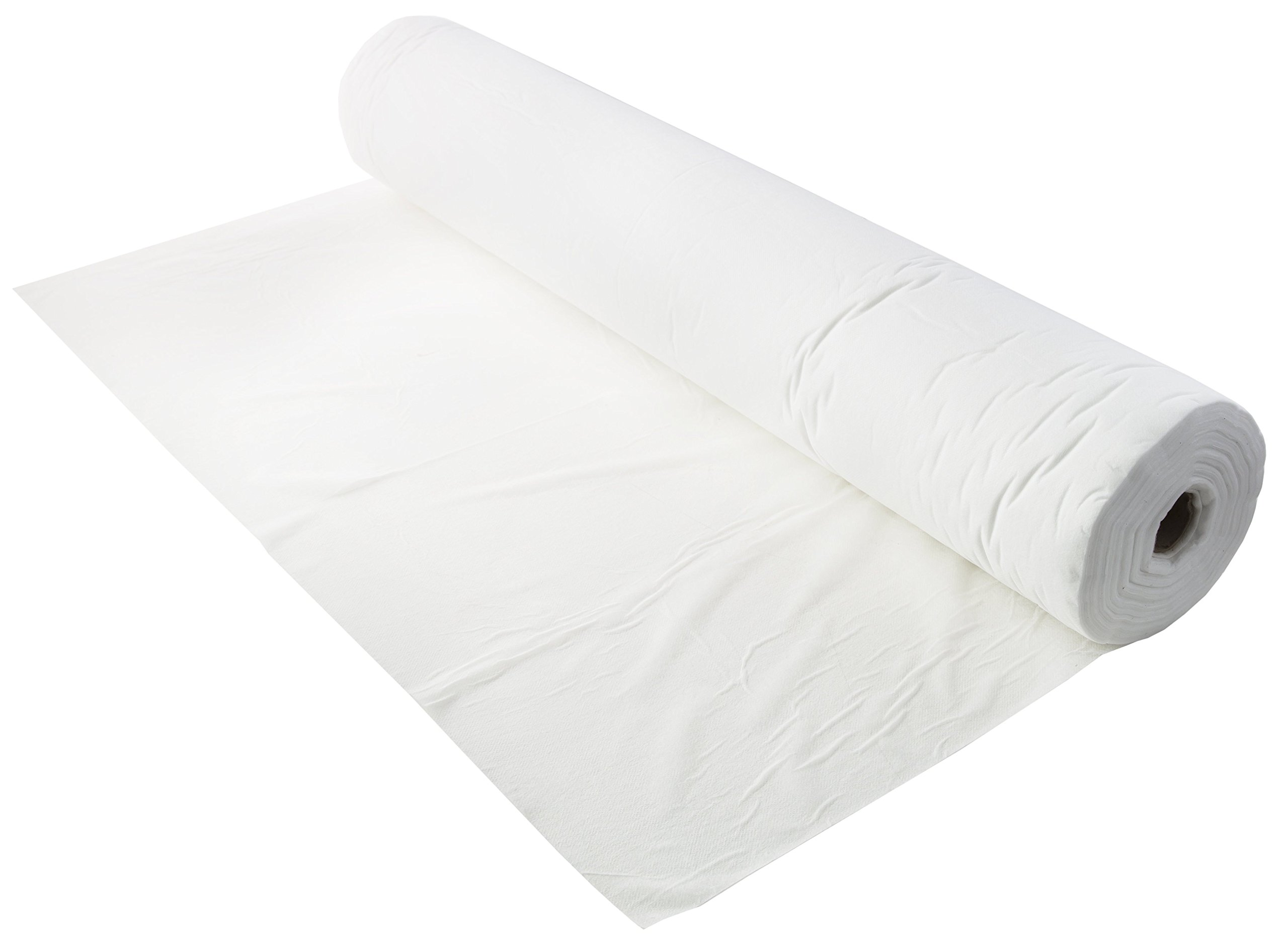 (6 Rolls) Disposable Non-Woven Bed Sheet | 50 Perforated Sheets with Precut Face Holes (31.5'' X 75'' Per Sheet) | Hygienic Protection for Massage, Spa, Beauty, or Tattoo Table | (White)