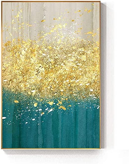 Oil Paint Drops Abstract Re print On Framed Canvas Wall art Home Decoration