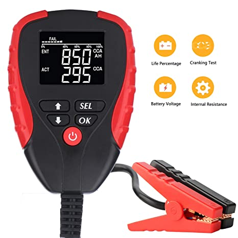 Digital 12v Car Battery Tester Pro With Ah Cca Mode Automotive Battery Load Tester And Analyzer Of Battery Life Percentage Voltage Resistance And Cca