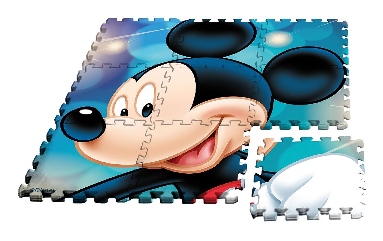Kids Licensing Tapis en Mousse Mickey au Format Puzzle, WD17628 Kids Euroswan