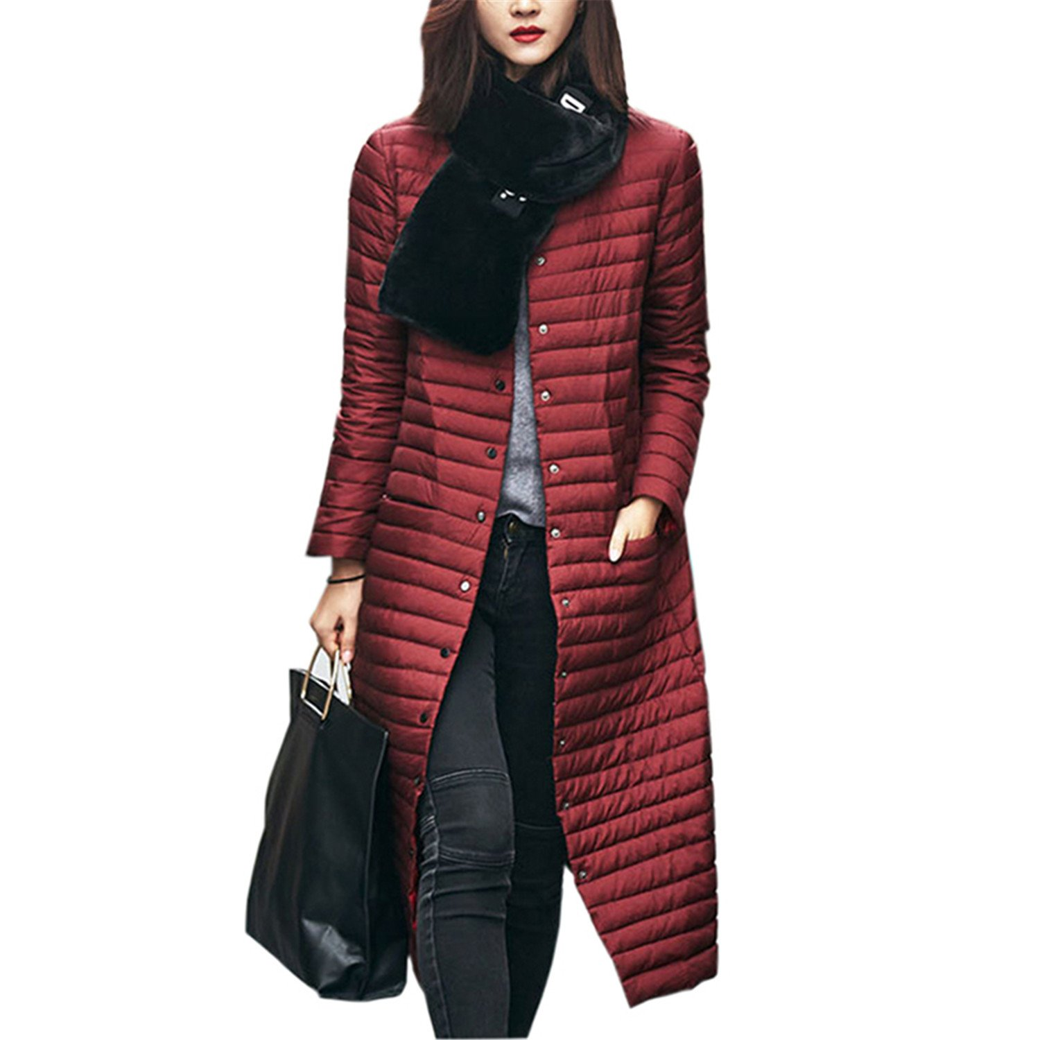 Dapengzhu Winter Jacket Women Coat Parka Mujer XXL Plus Size Jaqueta Feminina Inverno Outerwear New Chaqueta Casaco Feminino A698 Burgundy XXL at Amazon ...