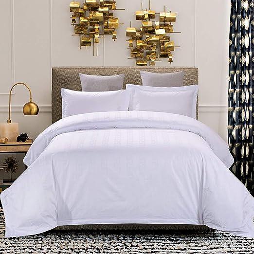 Ropa de Cama de algodón Conjunto de 4 Piezas, Star Hotel Jacquard ...