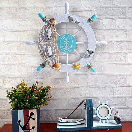 50X Small size Nautical Wooden Boat Ship Wheel Net  Beach Wall Home Decor