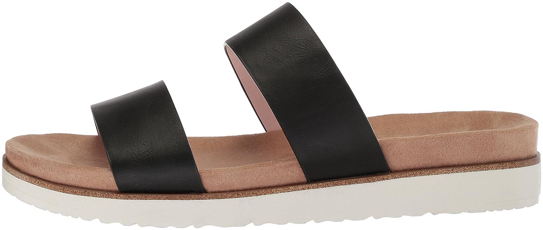 XOXO Women's Dylan Slide Sandal B078F5YFFG M090 M US Black
