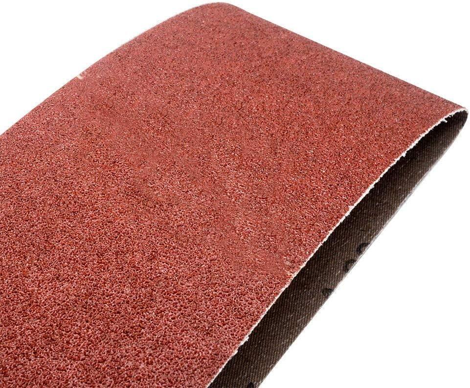 5Pcs Cloth Sanding Belts 75mm x 533mm Sanding Paper Sanding Belts Assortment 240 Grit