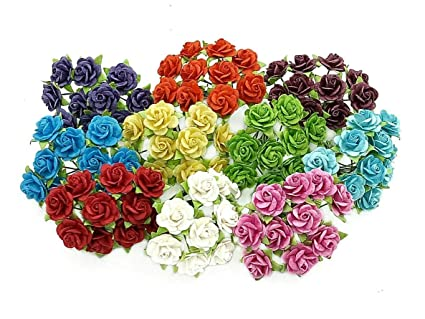 Amazon Nava Chiangmai 100 Pcs Mini Rose Mixed Color 10 Mm