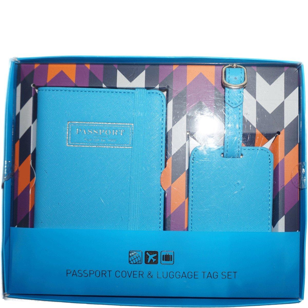 Flight 001 Passport And Luggage Tag Set Turquoise